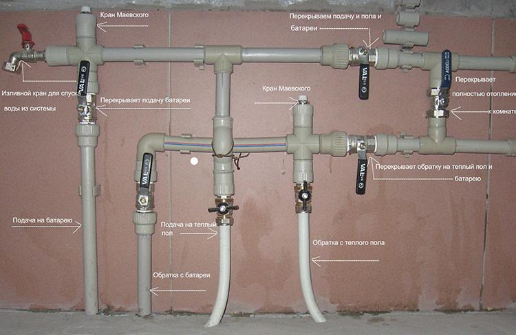 Схема монтажа ПП труб