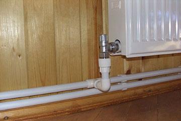 Нижняя разводка системы отопления