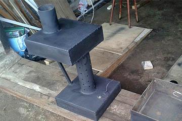 Печь из стальных листов