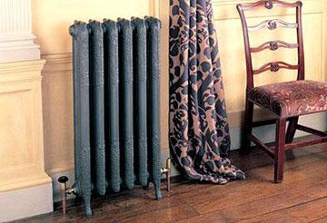 Чугунный радиатор в интерьере