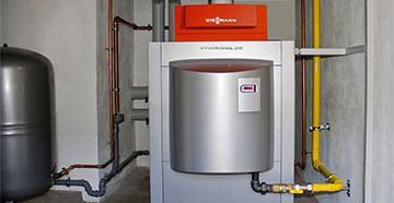 Установленный и подключенный газовый котел