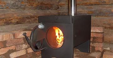 Металлическая печь для гаража