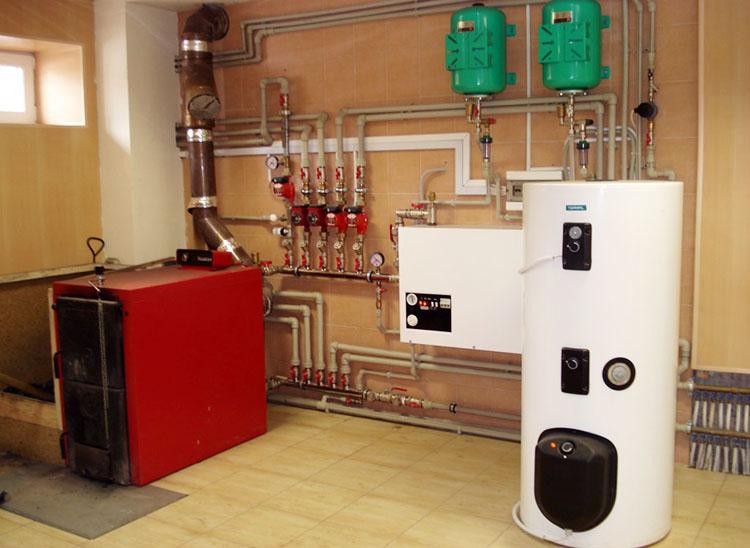 Твердотопливный котел для системы отопления