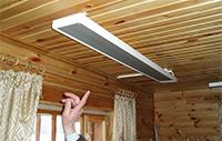 ИК-обогреватель под потолком