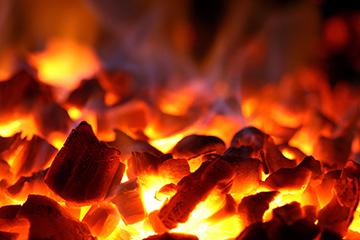 Жар от древесного угля
