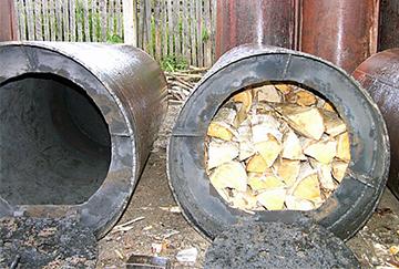 Бочка для изготовления угля