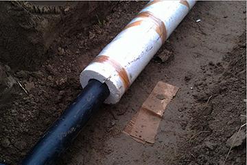 Утепленная водопроводная труба