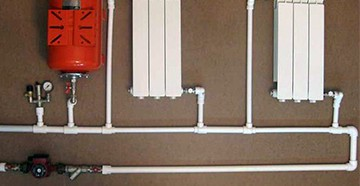 Разводка труб в отопительной системе