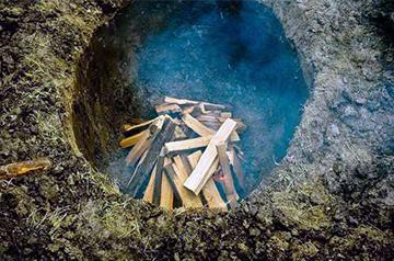 Яма для производства древесного угля