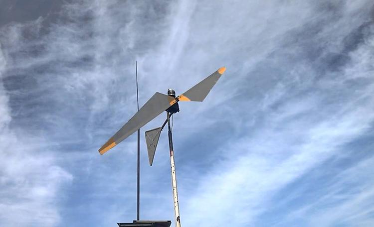 Ветрогенератор после монтажа