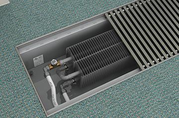 Внутреннее устройство напольного отопителя