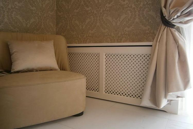 Декоративный экран в интерьере помещения