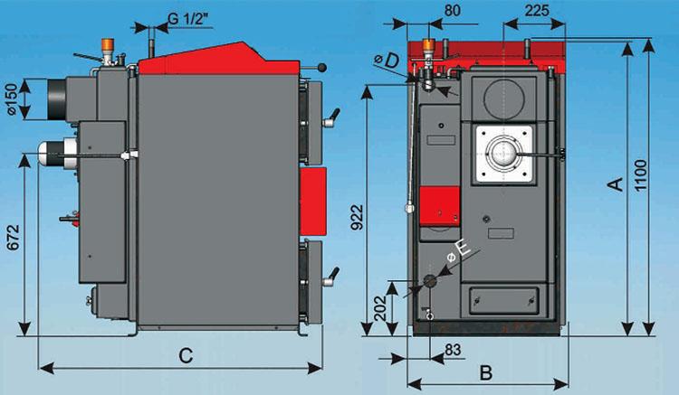 Схема газогенераторного котла