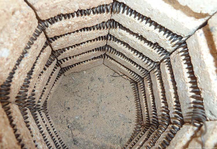 Спираль внутри печки