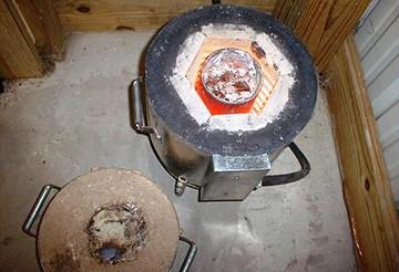 Муфельная печь в работе