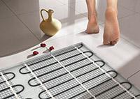 Теплые полы в ванной