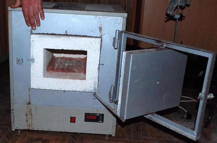 Печь из старой бытовой техники