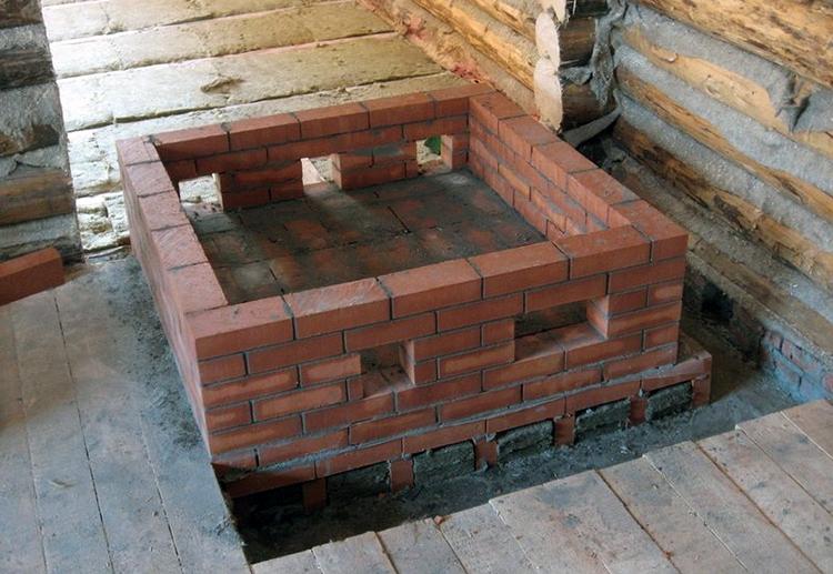 Фундамент для банной печки