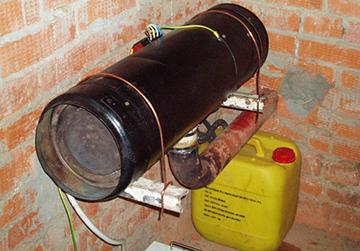 Печь на ждком топливе