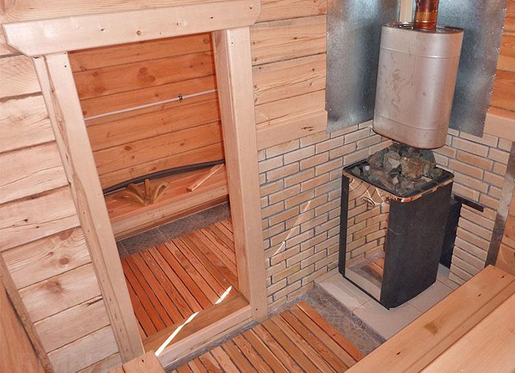 Установка печей в бане