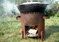 Печка для казана