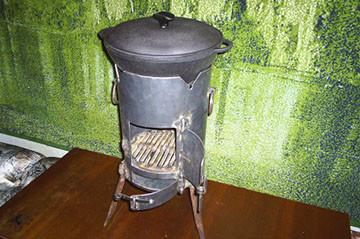 Небольшая печка под казан