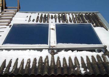 Солнечный коллектор зимой - оценка эффективности