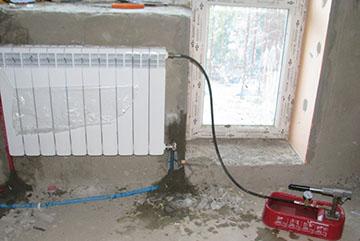 заполнение системы отопления водой
