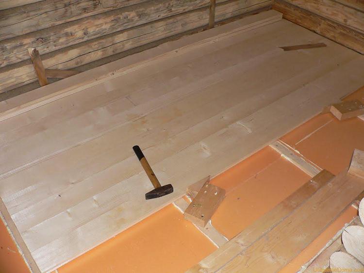 теплоизоляция деревянного пола