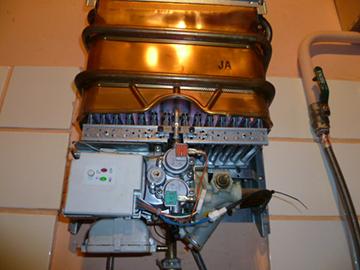 водонагреватель в разобранном виде