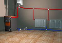 печь и водяные радиаторы