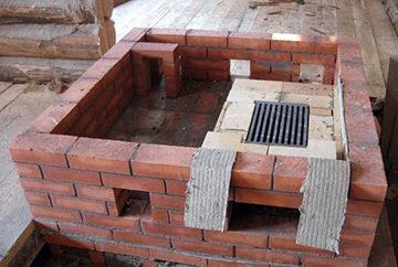 печь на стадии строительства