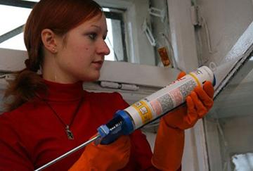 Утепление силиконовым герметиком