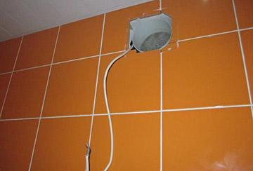 подготовка места для вентилятора