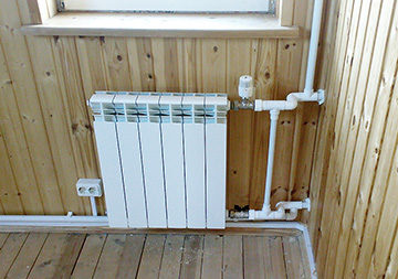 радиатор после установки