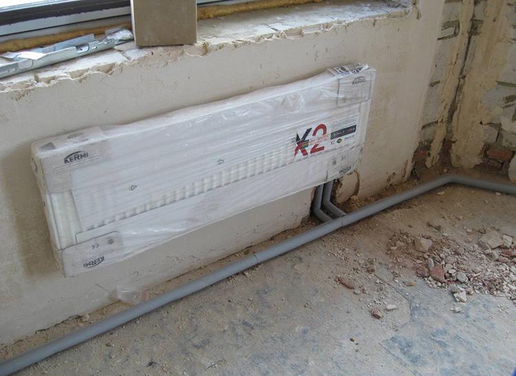 подключаем радиатор снизу
