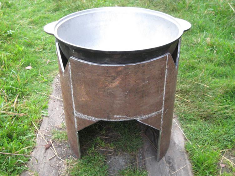 печь пиролизного типа