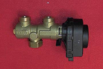 Клапан трехходовой к электроприводом