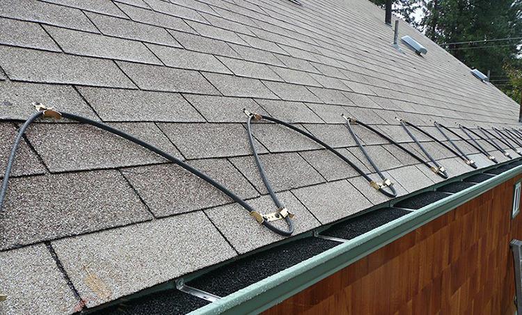 Обогрев крыши при помощи кабелей