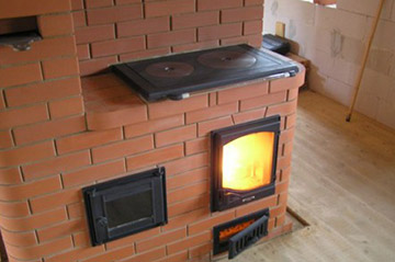 Отопительно-варочная печь из кирпича – шведка