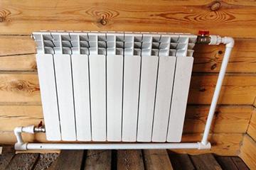Алюминиевый радиатор после монтажа