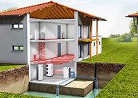 Система отопления с тепловым насосом Вода-Вода