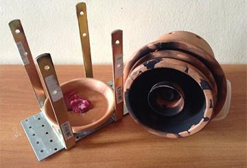 Глиняный радиатор в разобранном виде