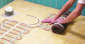 Укладка теплого пола в ванную комнату