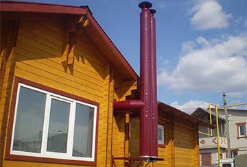 Дымоход для газового отопления