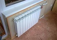 Радиатор, подключенный по системе Ленинградка