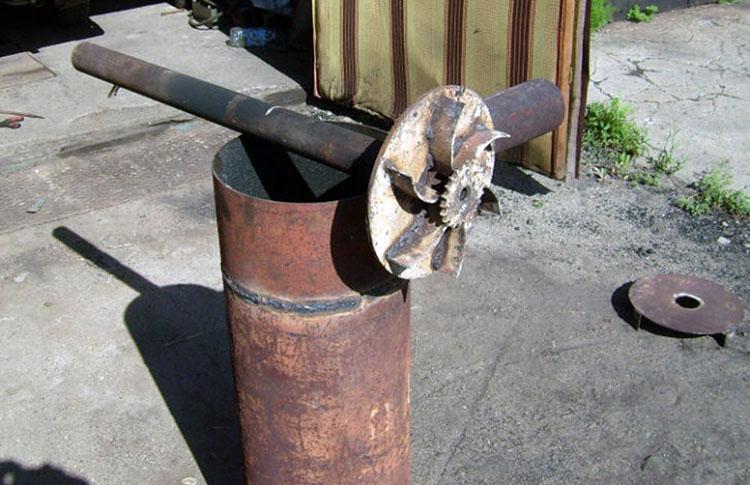 Котел отопительный со стальным блином