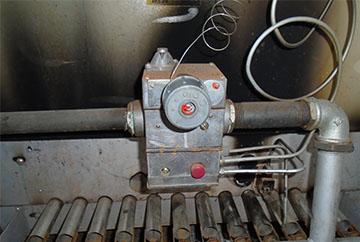 Автоматика котла из биметаллической пластины