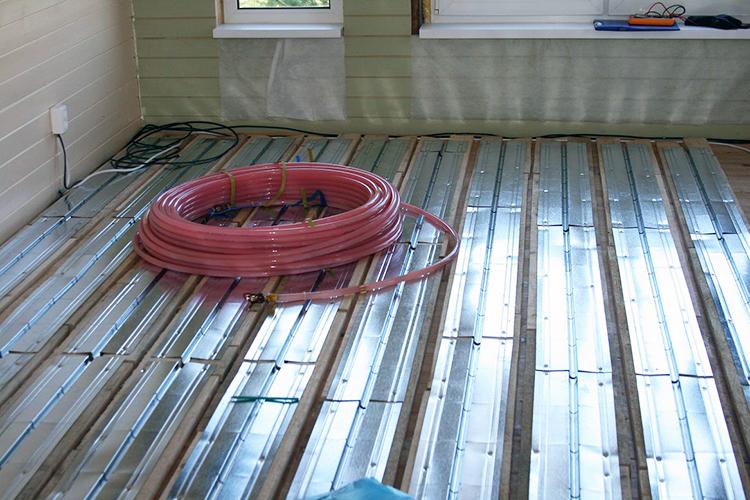 Водяной пол на деревянных лагах