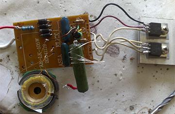 Простейший индукционный нагреватель с инвертором